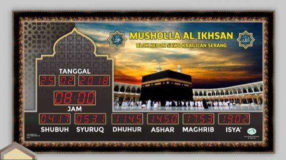 Jual Jam Masjid Digital di Pulau Laut Tanjung Selayar